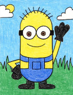 Learn to draw a minion